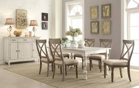 rectangle kitchen table set. Riverside Furniture Aberdeen Rectangular Farmhouse Expandable Dining Table | Wayside Room Rectangle Kitchen Set A