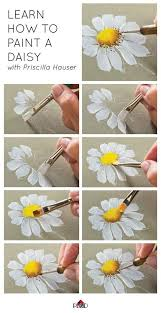 step by step canvas painting instructions best 25 daisy painting ideas on flower painting