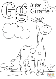 The Most And Interesting Letter G Coloring Page Work Pinterest