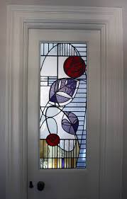 contemporary fl stained glass door panel