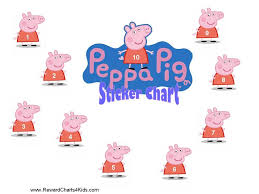 Peppa Pig Behaviour Charts Printable Potty Chart Sticker