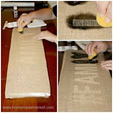 this is burlap family wall art is a simple diy craft that is so trendy with