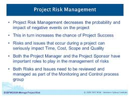 bsbpmga manage project risk manage project risk introduction to  3 bsbpmg508a
