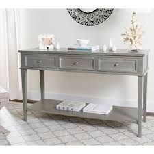 console table. Safavieh Manelin Ash Gray Storage Console Table