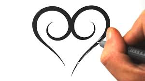 How To Draw A Simple Tribal Heart Tattoo Design 3