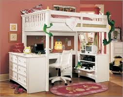 Bunk bed desk combo stunning queen size with underneath plus student loft  under beds computer enchanting