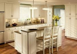 Double Tiered Kitchen Island With Eating Space