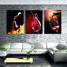 wall arts framed wall art set of 3 piece modern kitchen canvas paintings red wine