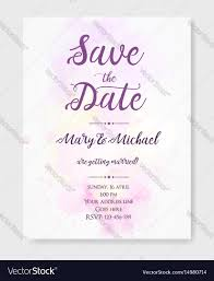 Wedding Invitation Template With Watercolor