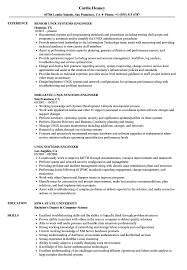 Systems Engineer Sample Resumes Unix Engineer Resume Magdalene Project Org