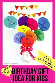 last minute birthday gift idea for kids free printable