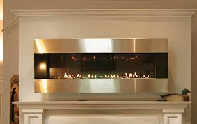 modern linear gas fireplace in greenwich ct