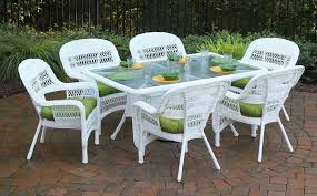 resin wicker furniture. Best White Plastic Patio Furniture With Resin Wicker Dining Sets 13