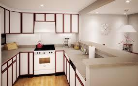 interesting red gloss kitchen cabinet design using bin pulls wood