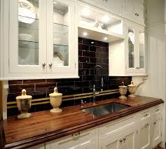 Small Kitchen Backsplash Espresso Color Kitchen Backsplash For Small Kitchen With White