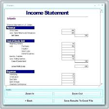 financial statement template for excel basic income statement template excel spreadsheet expense personal