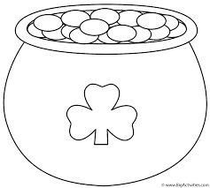 Small Picture Pot of Gold with Shamrock Coloring Page St Patricks Day