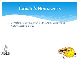 abby sunderland argumentative essay final draft halloween  4  complete your final draft of the abby sunderland argumentative essay tonight s homework