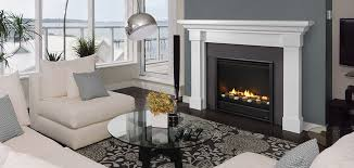 eclipse 36 gas fireplace with simon front ceramic stone slate surround and kenwood mantel