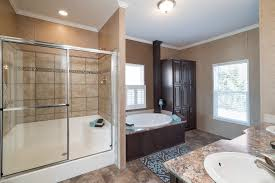 mobile home master bathroom walk in shower and separate tub