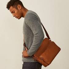 original designer full grain leather messenger bag santino m jpg