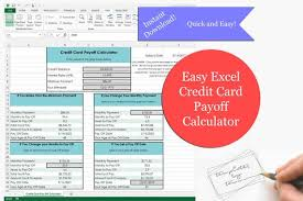 how to calculate credit card payoff in excel easy excel credit card payoff calculator debt calculator payoff calculator excel template budget planner