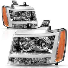 2011 Suburban Daytime Running Light Bulb Autosaver88 Headlight Assembly Led Drl Projector For 2007 2013 Chevy Avalanche Pickup Truck 07 14 Chevy Suburban Tahoe Replacement For Chevrolet Suv