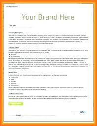Internal Job Advert Template Advertisement Cv Design