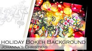 holiday bokeh background coloring book johanna s by johanna basford you