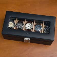 watch box watch case men s watch box watch box for men wood buy leather watch boxes for men at brookstone watch valet a soft velvet interior protects and stores your five favorite watches
