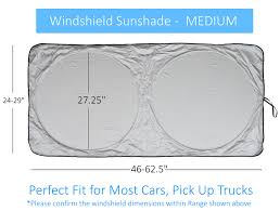 Windshield Size Chart Windshield Sun Shade Suv Car Size Chart With Your Vehicle