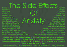 the side effects of anxiety