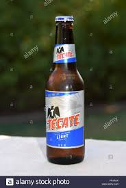 Tecate Vs Tecate Light Tecate Beer Made In Mexico Stock Photo 220460322 Alamy