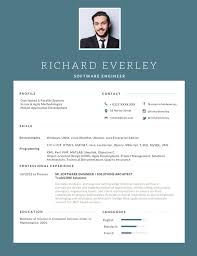 Great Resume Designs 24 Most Professional Editable Resume Templates For Jobseekers 18