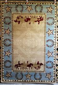 star area rug or blue tan country western horses horseshoe star area rugs carpets rustic texas