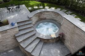 Inflatable Concrete Custom Concrete Hot Tubs Gib San Pools