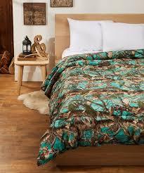textiles teal camo comforter