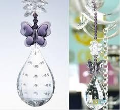 5pcs diy suncatchers handwork 10 6inch crystal chandelier prism pendants hanging glass lighting drop parts