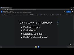 dark mode on a chromebook
