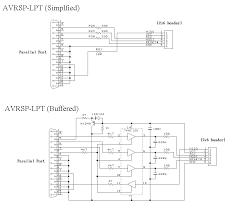 avr programmer circuit diagram for avr isp adapter lpt
