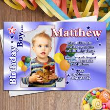 invitation for 1st birthday party boy fresh 10 personalised boys first 1st birthday party photo invitations n22
