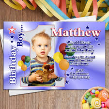 invitation for 1st birthday party boy fresh 10 personalised boys first 1st birthday party photo invitations n22