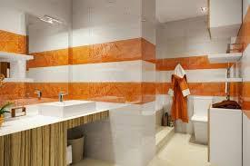Apartment Interior Designer Custom Small Apartment Interior Design Beautiful White And Orange Bathroom