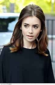 Middle Split Hair Style pretty ways to style a middle part lily collins hair lily 8026 by wearticles.com