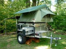 utility trailer roof top tent deployed