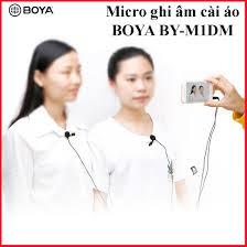 PHIÊN BẢN MỚI] Micro ghi âm cài áo Boya BY-M1DM 2 mic thu âm cho 2 người  cùng lúc,làm youtube, vlog cực tốt d2tshop