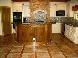 Pretty Ceramic Tile Kitchen Floor Designs