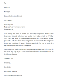 wo Weeks Notice Letter With Gratitude two weeks notice letter template