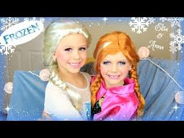 disney s frozen elsa and anna makeup tutorial costume makeup and hair duration 11 31 min