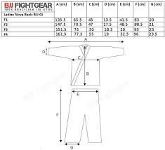 Venum Women S Gi Size Chart Tatami Ladies Estilo 6 0 Bjj Gi